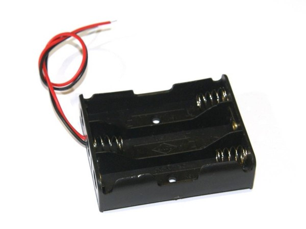 Battery holder (3x AA) with cable