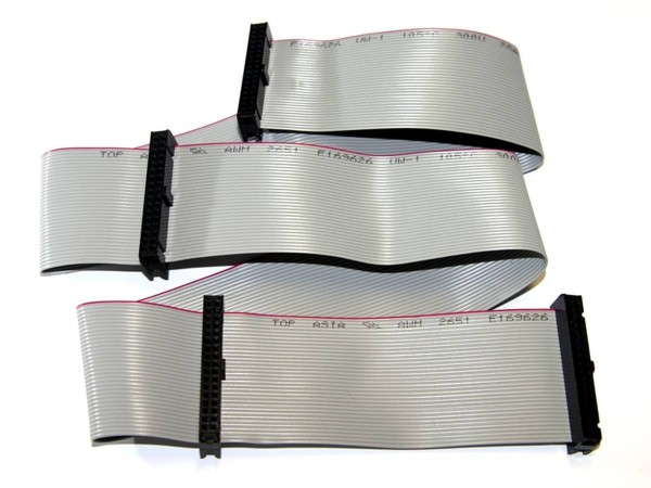 "Ribbon Cable 34pin, 72cm (28""), 4 Connector"