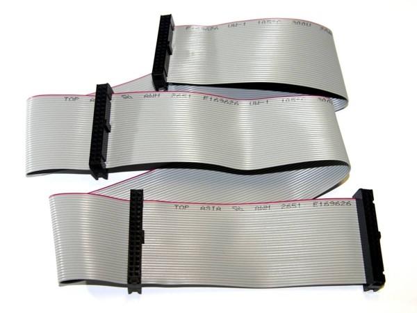 """Flachbandkabel 34pin, 72cm (28""""), 4 Anschüsse"""