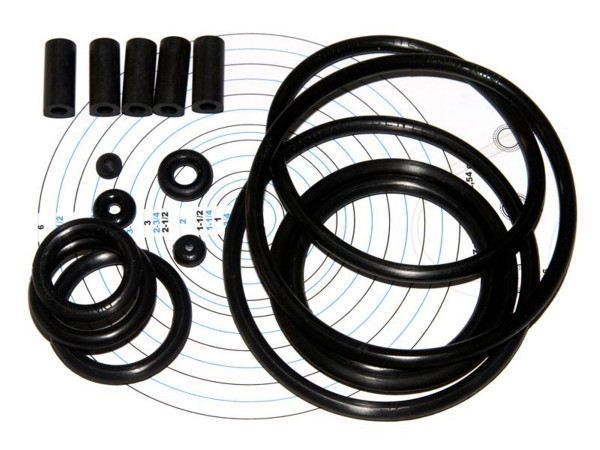 Rubber Set for Supersonic (Bally), premium black