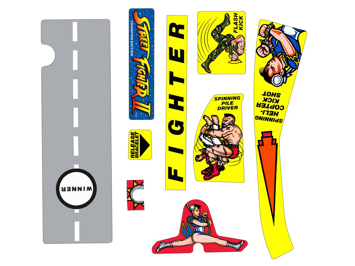 Decals For Street Fighter Street Fighter 2 Pinball Parts By
