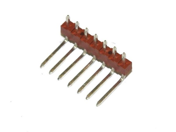 "Board Connector, 7 Pin, Right Angle, .1"" (2.54mm)"