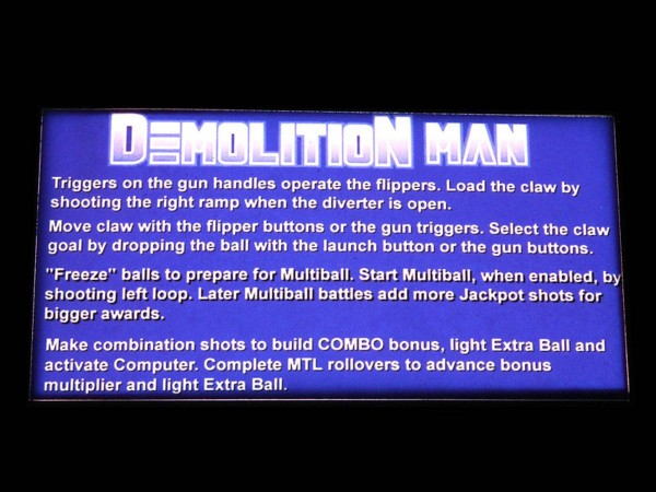 Instruction Card 2 for Demolition Man, transparent