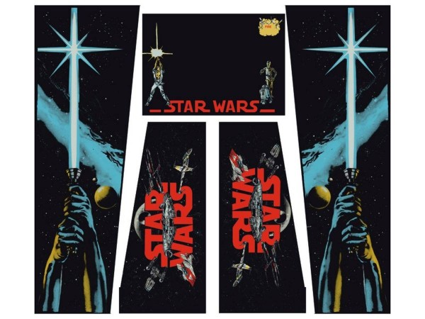 Cabinet Decal Set For Star Wars Data East Black Edition