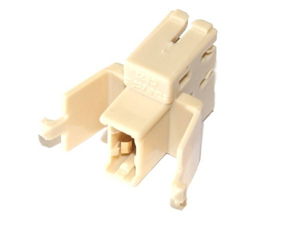 Lamp socket - snap on - wedge base, T10, #555 - with Diode