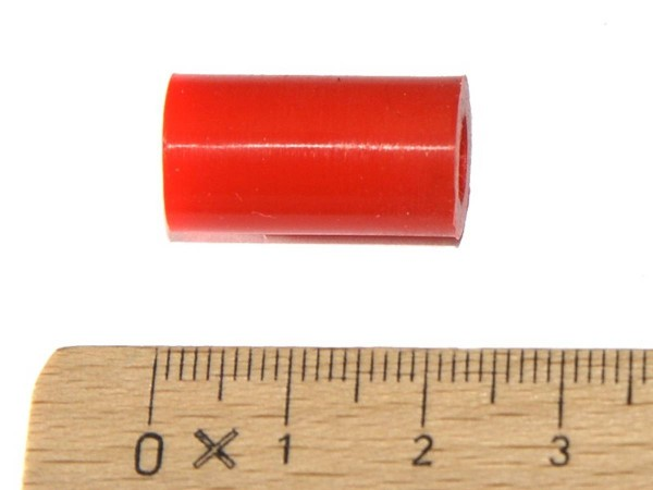 """Post Sleeve 7/8"""", red"""