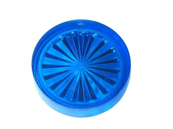 """Insert 1"""" rund, blau transparent """"Starburst"""""""