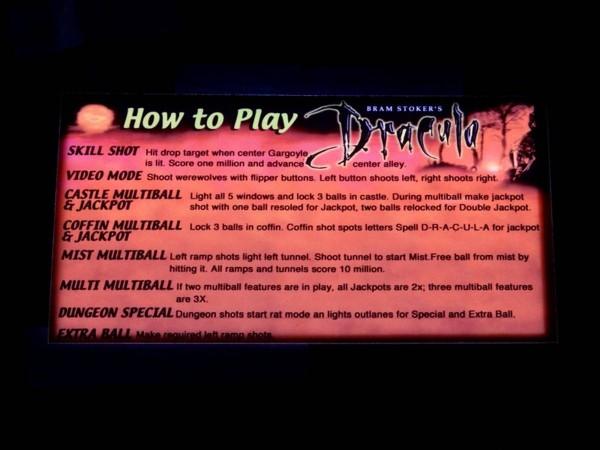 Instruction Card for Dracula, transparent