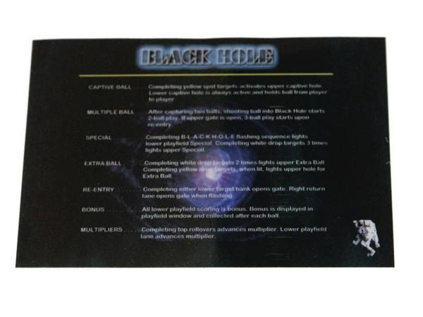 Instruction Card for Black Hole, transparent