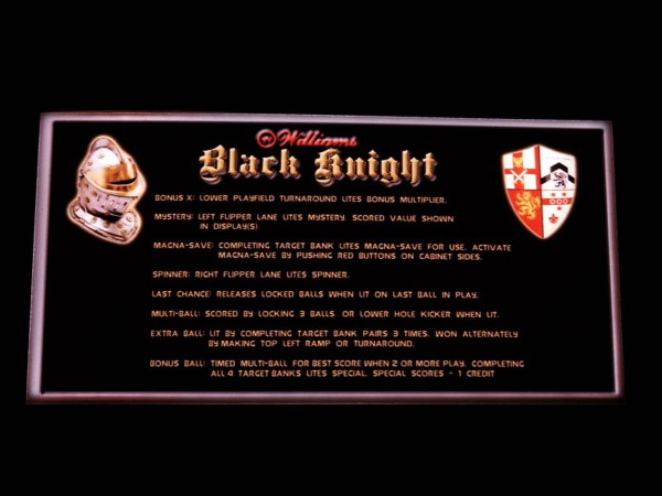 Instruction Card for Black Knight, transparent