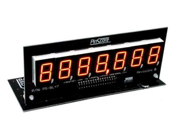 PinScore 7-stelliges Flipper LED Display für Bally / Stern