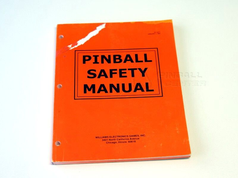 Pinball Safety Manual Williams  Original  Manuals  Maintenance