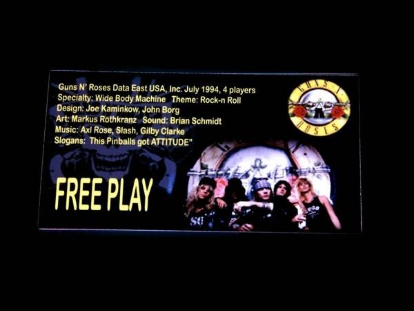 Custom Card for Guns N' Roses, transparent