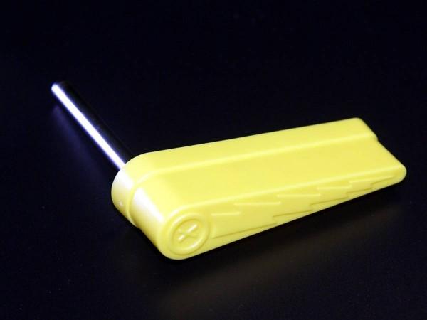 Flipper with lightning bolt, yellow