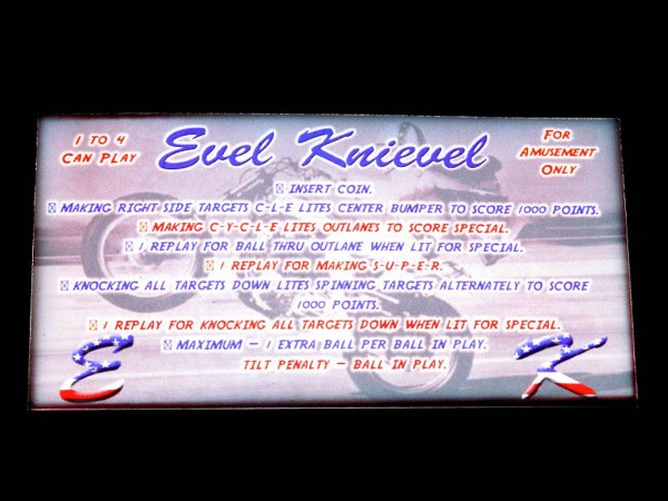 Instruction Card 2 for Evel Knievel, transparent
