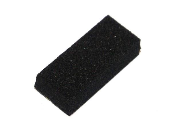 Target Puffer schwarz - Schaumstoff, selbstklebend (10 Stück)