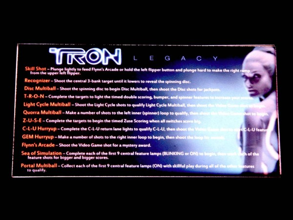 Instruction Card 2 for TRON: Legacy, transparent