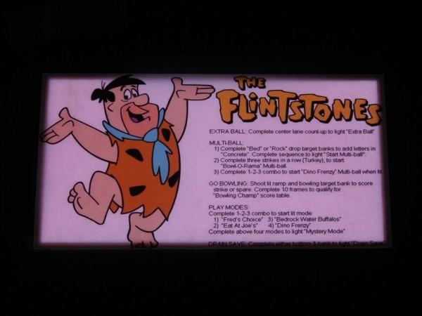 Instruction Card for The Flintstones, transparent