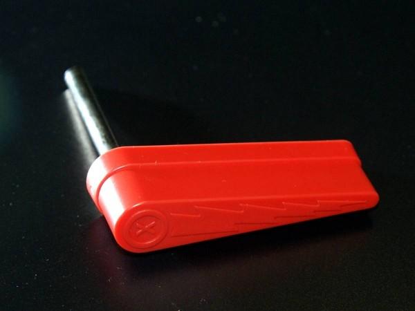 Flipper with lightning bolt, red