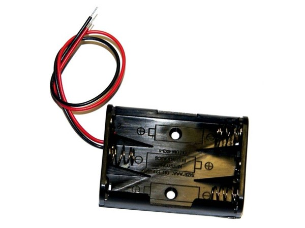 Battery holder (3x AAA) with cable