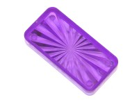 "Insert 1-1/2"" x 3/4 rectangle, purple transparent"