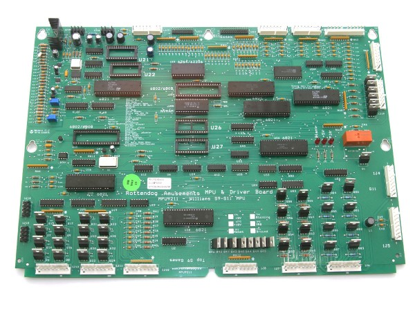 MPU Replacement Board for Williams System 9, 11, 11A, 11B und 11C