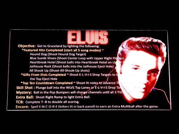 Instruction Card for Elvis, transparent