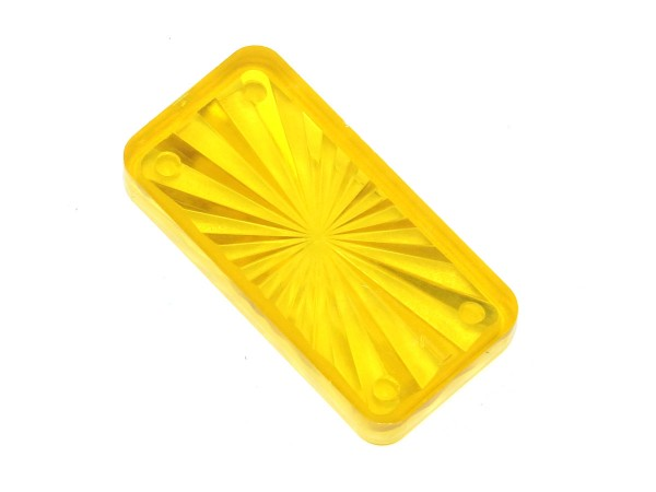 "Insert 1-1/2"" x 3/4 rectangle, yellow transparent"