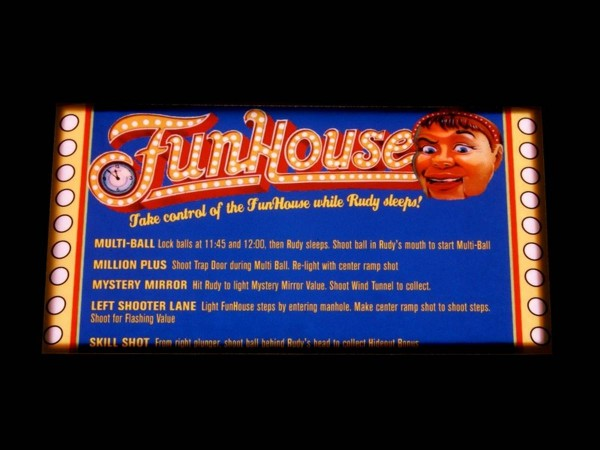 Instruction Card for Funhouse, transparent