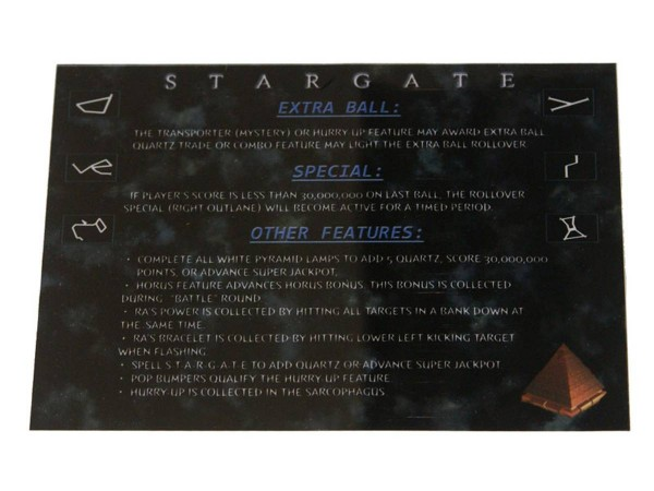 Instruction Card for Stargate, transparent