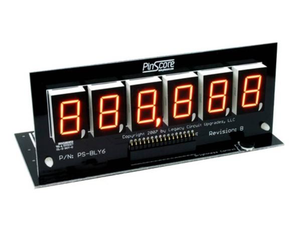 PinScore 6-stelliges Flipper LED Display für Bally / Stern