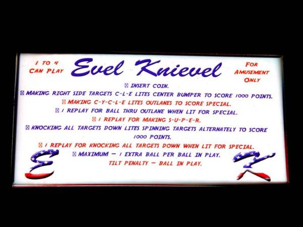 Instruction Card 1 for Evel Knievel, transparent