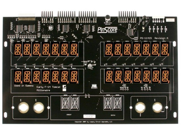 PinScore Pinball LED Display for Williams F-14 Tomcat (early)