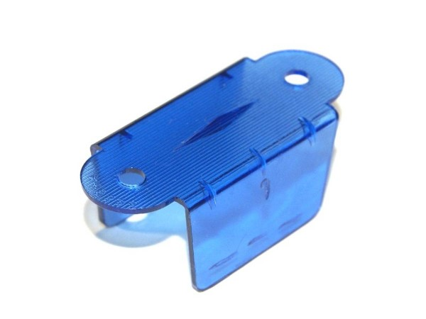 """Lane Guide 1-1/2"""", blue transparent double sided (03-7034-10)"""