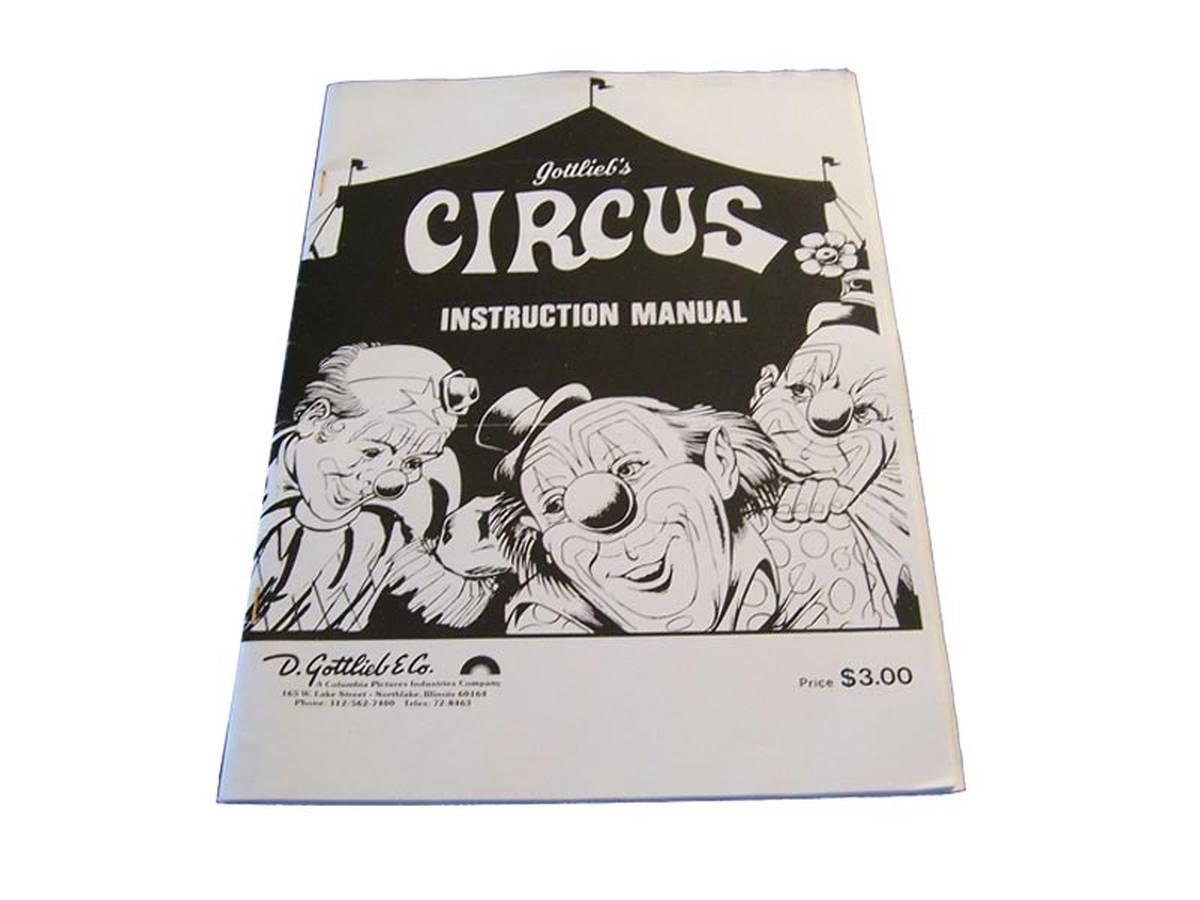 gottlieb pinball machine manuals