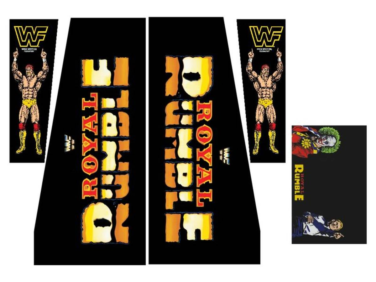 Cabinet Decal Set for WWF Royal Rumble | WWF Royal Rumble ...