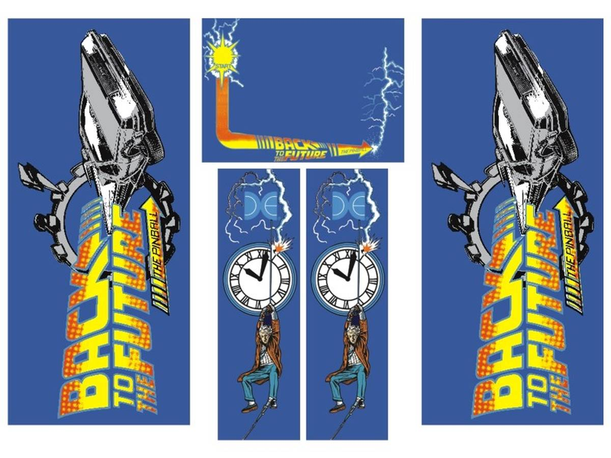 Cabinet Decal Set for Back to the Future | Back to the Future ...