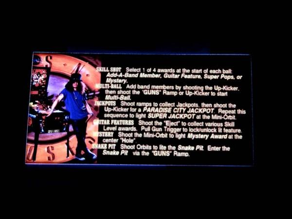 Instruction Card for Guns N' Roses, transparent