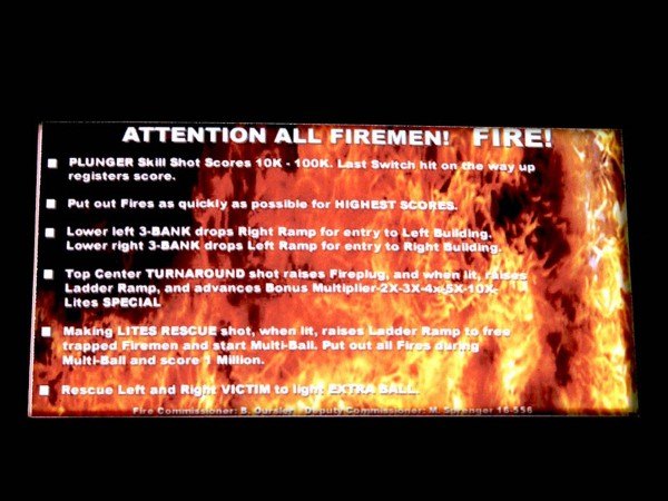 Instruction Card for Fire, transparent