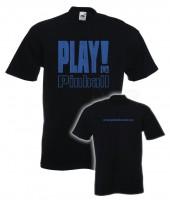 "T-Shirt ""Play Pinball"" - S, schwarz"