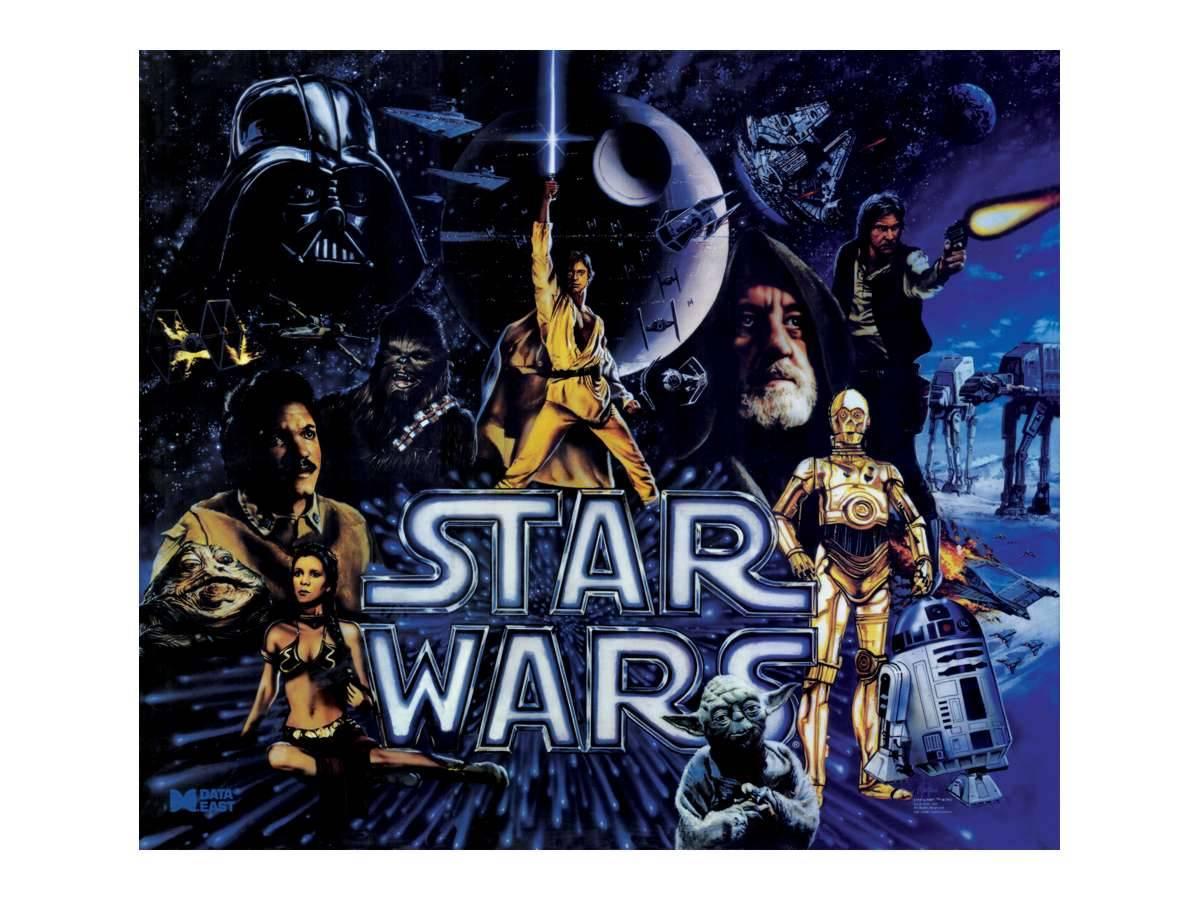 Star Wars Cabinet Cabinet Decal Set For Star Wars Data East Black Edition Star