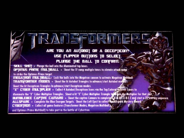 Instruction Card for Transformers, transparent