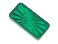 """Insert 1-1/2"""" x 3/4 rectangle, green transparent"""
