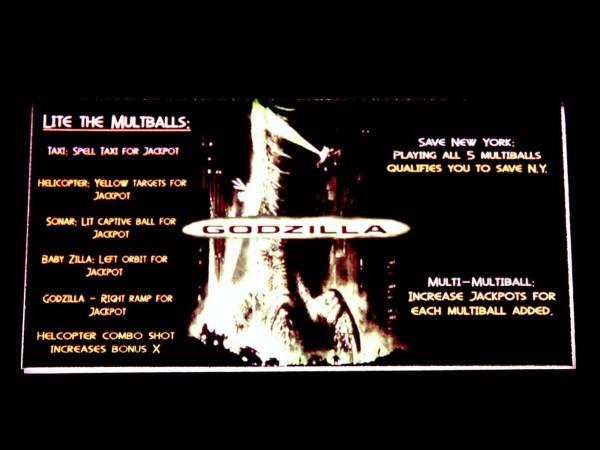Instruction Card for Godzilla, transparent