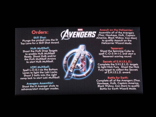 Instruction Card for The Avengers (1), transparent